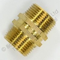 """50mm Brass Hex nipple MxM"""""""