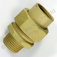 20mm Brass Barrell Union M&F